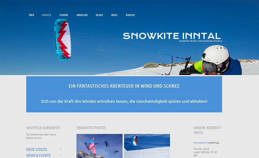 Snowkite Inntal