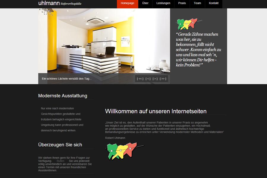 Webseite Design Robert Uhlmann Kieferorthopädie Fulda
