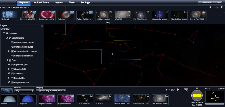 Worldwide Telescope: Den Himmel erkunden