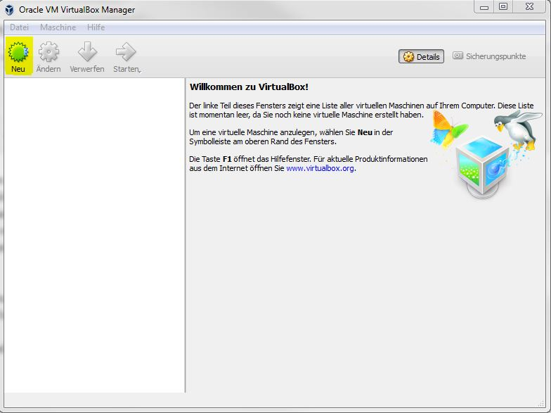 Linux in Windows VirtualBox