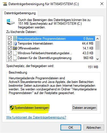 Computer PC auf Vordermann bringen Festplatte bereinigen